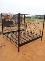 Steel bed with net stands