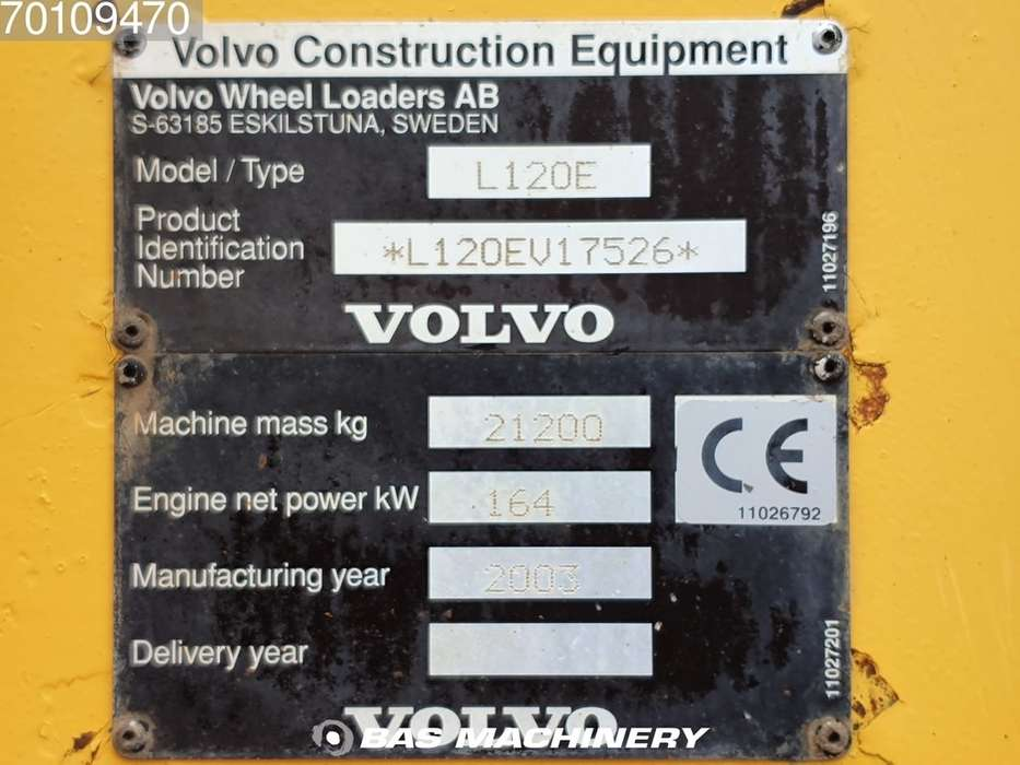 Volvo L120E From first owner - nice machine - 2003 - image 20