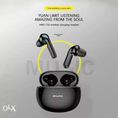 Original AWEI Newest T15 Bluetooth 5.0 Headset TWS Wireless Earphones الرياض -  6