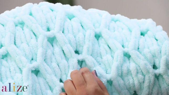супер цена пряжа для вязания руками с петельками ализе пуффи купить