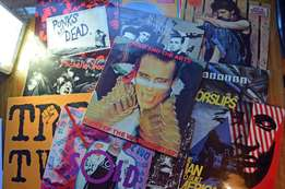New Wave and Punk vinyl LPs in good condition. Total: 11