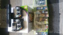 Xbox 360 250gb kinect and 9 games