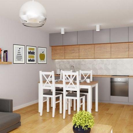 Stół I 4 Krzesła Zestaw Do Kuchni Tanie Zestawy Stoły