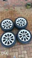 17 inch original bmw e90 rims for sale, includes 4 tyres 225/45 R17