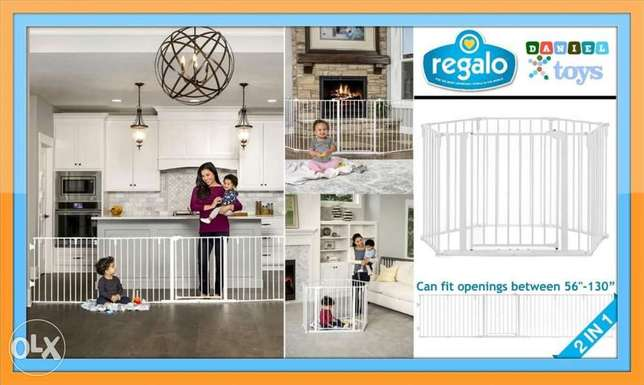 Regalo 2 in 1 Super Wide Safety Gate and Play Yard