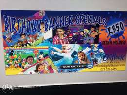 Birthday banners special