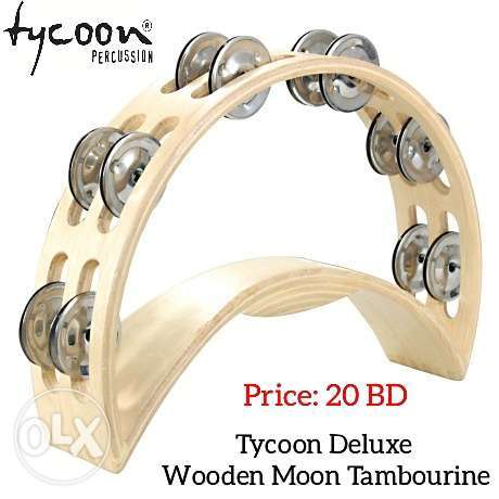 New Tycoon Deluxe Wooden Moon Tambourine available in stock.