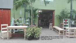 Tables, chairs, benches and full sets - Visit our shop in Somerset Wes