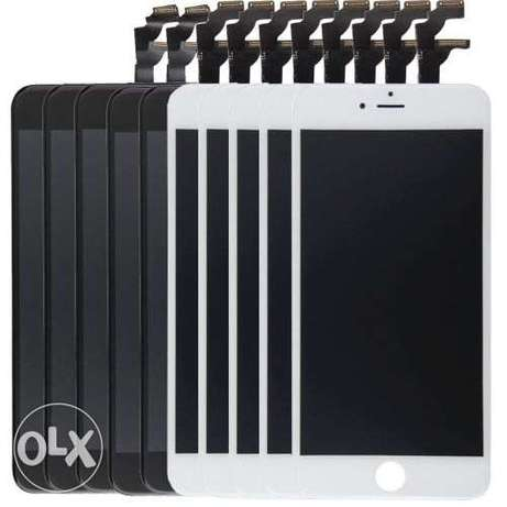 5 PCS Black + 5 PCS White 3 in 1 for iPhone 6 LCD + Frame + Touch Pad Upington - image 1