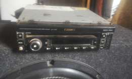 2x amps boom box and sub DVD CD player