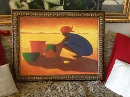 Large African Women Print by Willis for Sale!