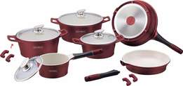 New Royalty Line 14-Piece Ceramic Coating Cookware Set