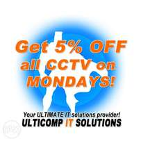 It's CCTV Monday at Ulticomp. 5% off all CCTV hardware and equipment!