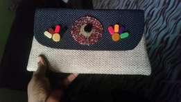 Beaded African themed clutch bags