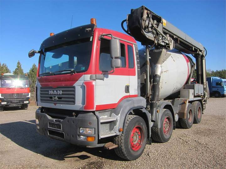 MAN Tga 35.400 8x4 Stetter 9 M3 + Theam 14m+4m - 2007