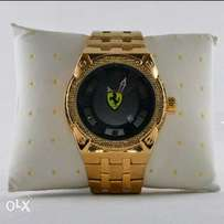 Ferrari Gold Wristwatch
