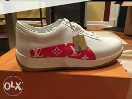 New Louis Vuitton supreme white sneakers
