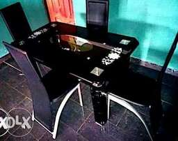This is a brand new imported glass dining set