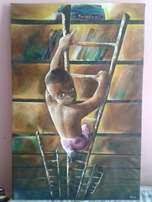 Success minded art painting.