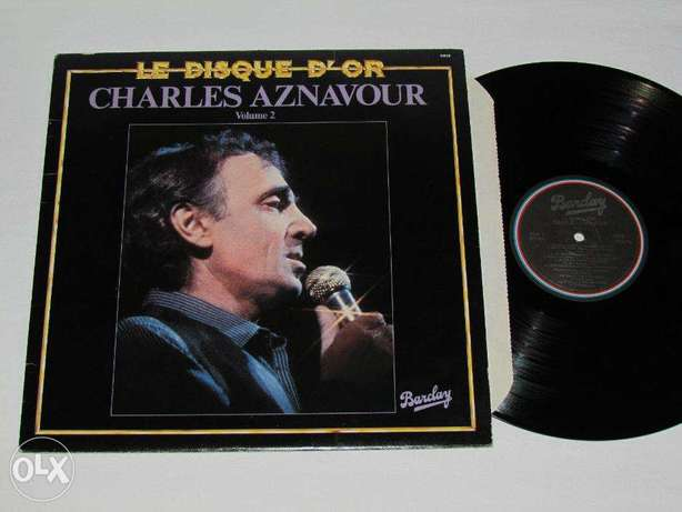 charles aznavour disque d'or vinyl barclay