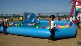 inflatable swimming pools for hire