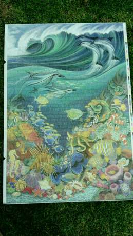 1500 piece completed ocean puzzle River Crescent - image 1