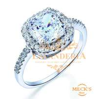 Simple Classic Genuine Solid 925 Sterling Silver Engagement Ring
