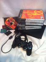 ps2 console, one controller, games
