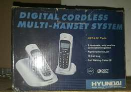 2x Hyundai cordless phones for sale