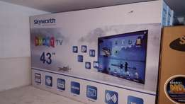 Skyworth 43 inch smart TV is back!! Get yours TODAY!!