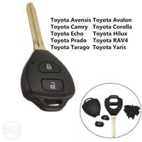 2 Button Remote Key Fob Shell Case Replacement For Toyota Rav4 Corolla