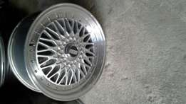 "2 BBS ""18"" alloy rims with tyres!!"