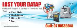 Recover your lost/ deleted/ formatted data today
