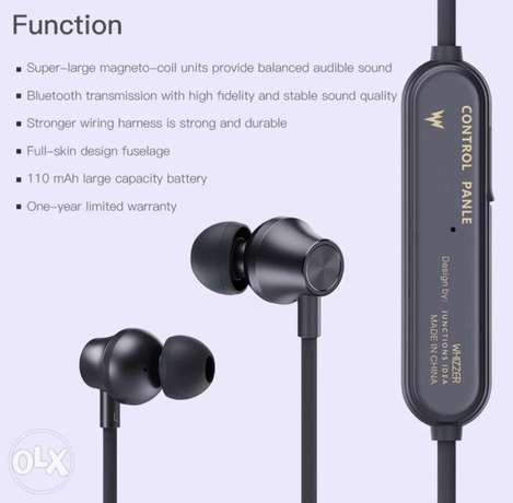 Whizzer J2 Necklace Bluetooth Earphone Wireless Earbuds with Mic and I الرياض -  6