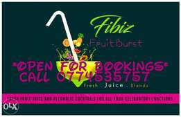 Fresh fruit juice for functions