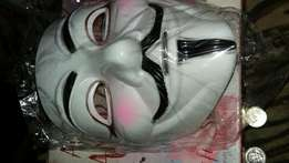 Quality hard plastic anonymous Mask