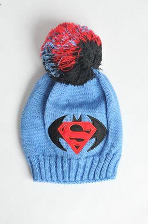 9d9d8617d7762a Czapka chłopięca zimowa pompon supermen różne38-48 Teresin - image 1