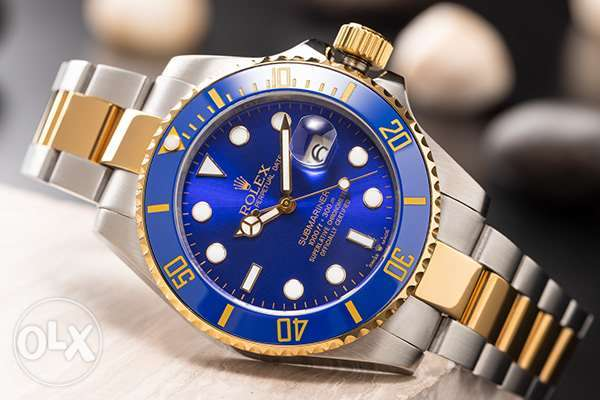 submariner blue dial tow tone high quality