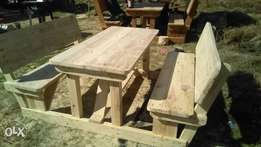 6 seater backrest wooden benches for sale
