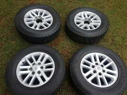 4 x Toyota Hilux Mags with tyres
