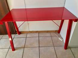 red glass Study/computer table