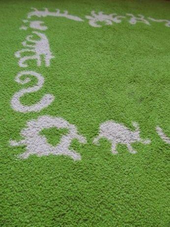 Zielony Dywan Do Pokoju Dziecięcego 135x135cm Ikea Bydgoszcz