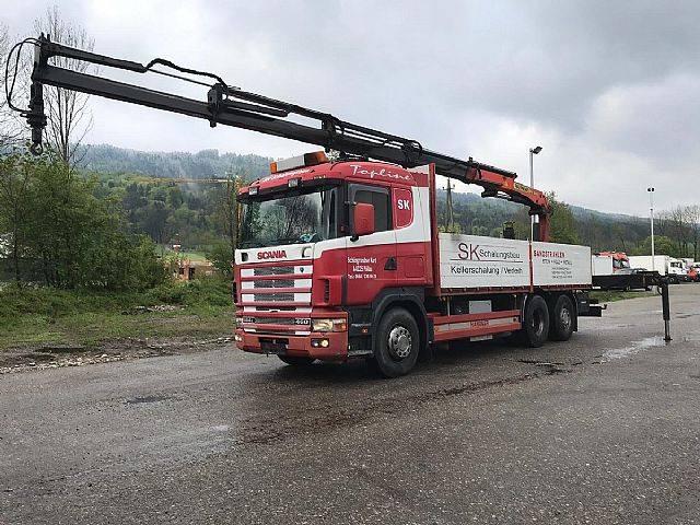 Scania R 144-460 6x2 Pritsche+Kran PK 16000 C-4 Bj.2000 - 2000