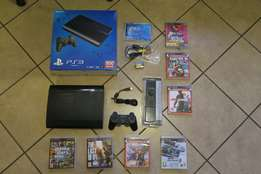 PlayStation 3 Super Slim 500GB + 6 Games + Blu-Ray Remote