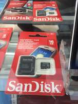 16GB Sandisk memory card brand new and sealed in a shop ksh.999