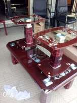 Complete set of centre table Brown two side stool and one center table