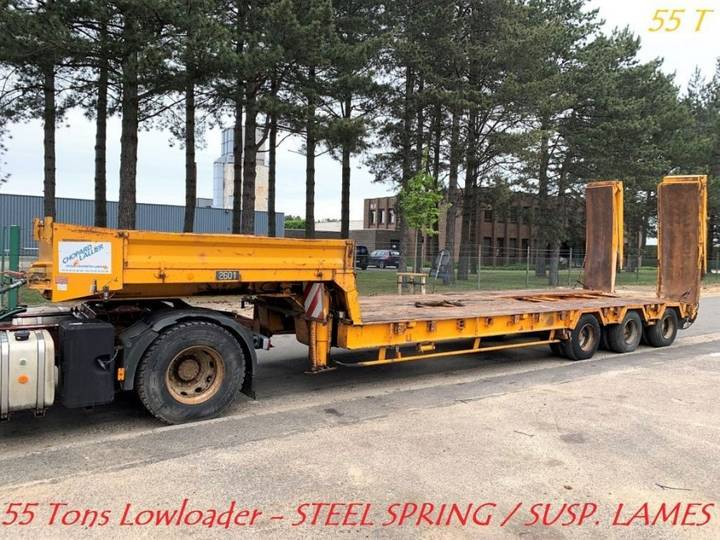 - 3-axles LOW-LOADER 55 TONS - STEEL SPRING / 3-ess PORTE - 1981