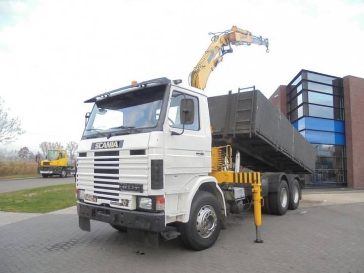 Scania 142H420 Tipper / 6x2 / Full Steel / Effer Crane - 1983