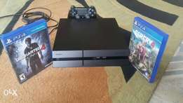 Neatly Used PS4(500GB) with UNCHARTED4 & FAR CRY 4