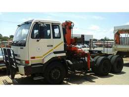 NISSAN UD 350 with crane for sale